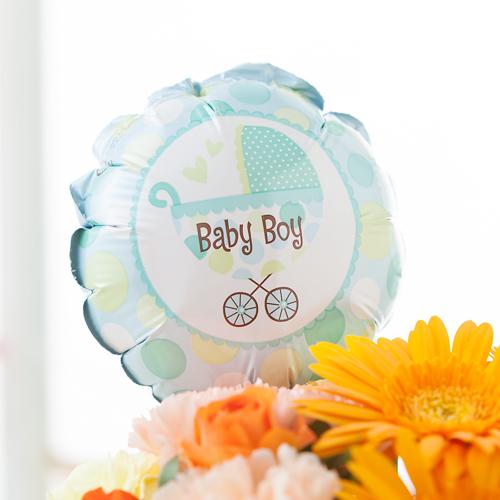 EXアレンジメント「初めての贈り物〜baby boy〜」