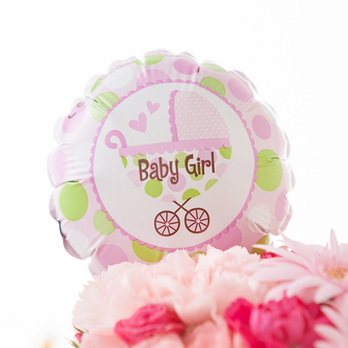 アレンジメント「初めての贈り物〜baby girl〜」