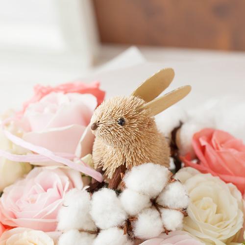デザイナー岩橋さん花束「Rabbit and Pink ribbon〜幸せをつめこんで〜」M