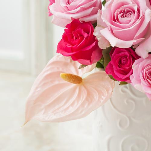 アレンジメント「ラグジュアリー ローズ〜pink〜」