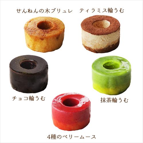 プリザーブドセット「せんねんの木 プチバウムケーキ」