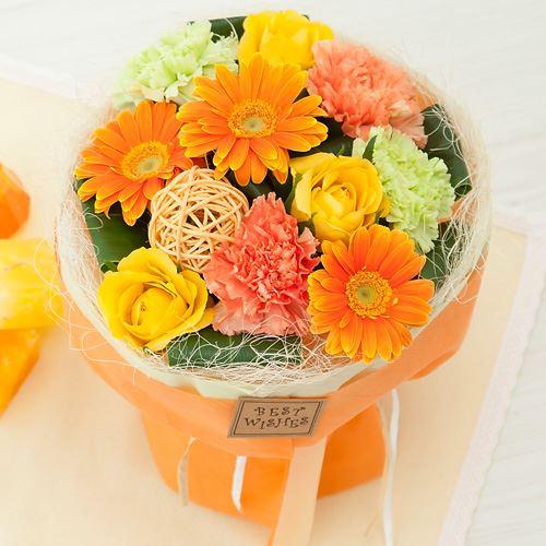 花束「スタンドブーケ〜Orange〜」