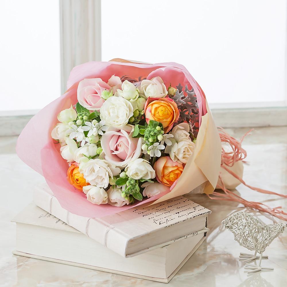デザイナー田辺さん花束「プレシャス ローズ〜春夏の風〜」S