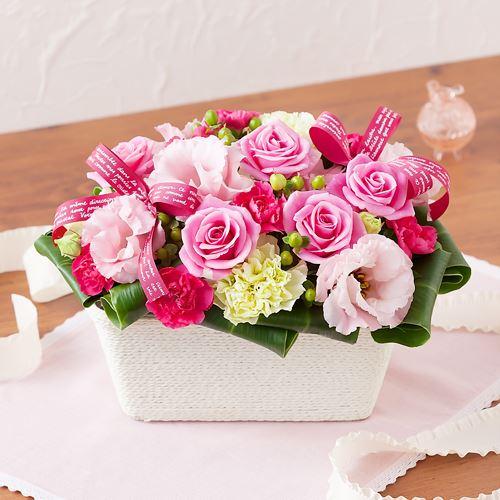 EXアレンジメント「ル・リュバン・グラン〜rose〜」