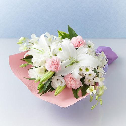 <千趣会イイハナ> 【故人を偲ぶ、お悔みの花】花束「懐旧の情」