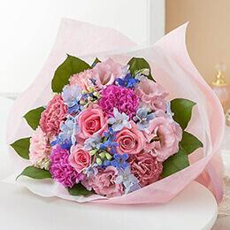 母の日 花束「ハピネス・ブルー」