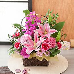 母の日 アレンジメント「華籠〜華麗な贈り物〜」