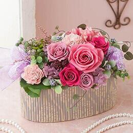 母の日 プリザーブドフラワー「ラ・ローザ・ママン〜お母さんに感謝を込めて〜」