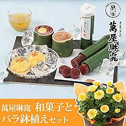 父の日 バラ鉢植えセット「萬屋琳窕 京のひんやりギフト」