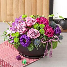 父の日 アレンジメント「紫蝶の舞〜山紫水明〜」