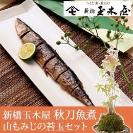 敬老の日 盆栽セット「新橋玉木屋 秋刀魚さんしょ煮」