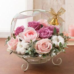 アレンジメント「Sweet Rose Basket」