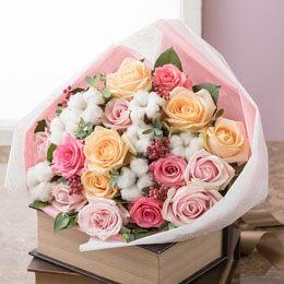 花束「Winter Cotton〜冬の贈り物〜」