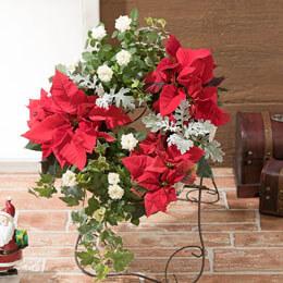 寄せ植え「クリスマスリース〜華やかなリースでおもてなし〜」