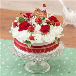 アレンジメント「フラワーケーキ~クリスマスケーキ~」
