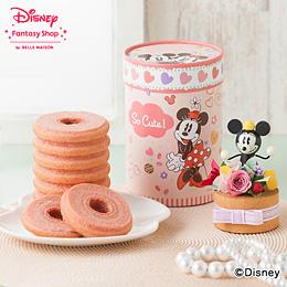 ディズニー プリザーブドフラワーセット「苺ミルクのトールバウム」