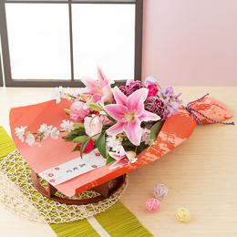 お正月 花束「桜〜初春の慶び〜」
