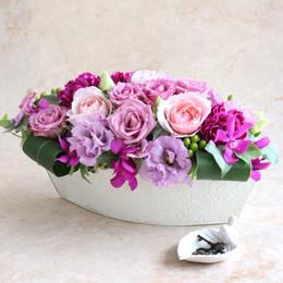 アレンジメント「紫(ゆかり)〜優雅な時間〜」