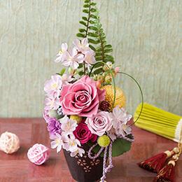 プリザーブドフラワー「春香〜桜の舞〜」