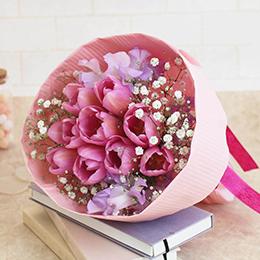 花束「Twinkle pink〜ときめくチューリップ〜」