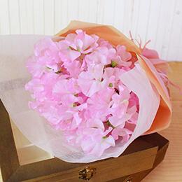 花束「ピンクスイートピーブーケ」
