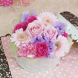 EXアレンジメント「Pink Cakebox」