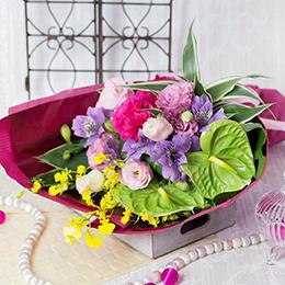 花束「トロピカル・ピンク」