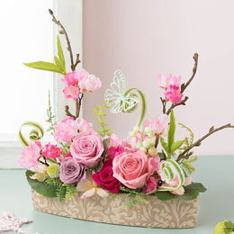 【最速で翌日配送対応】プリザーブドフラワー「桜の詩」