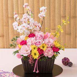 【最速で翌日配送対応】アレンジメント「春爛漫=桜の下=」