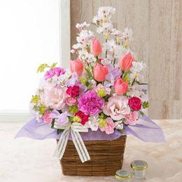 【最速で翌日配送対応】アレンジメント「Classy Spring=桜咲く、春=」