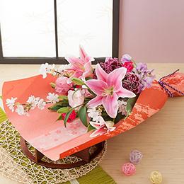 【最速で翌日配送対応】花束「桜=春の慶び=」