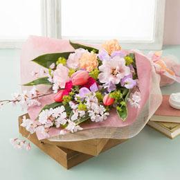 【最速で翌日配送対応】花束「Precious Bouquet=感謝のこころ=」