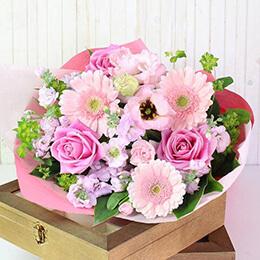 【最速で翌日配送対応】花束「Congrats Bouquet=さくら=」