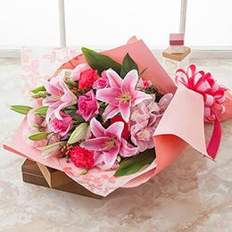 【最速で翌日配送対応】花束「ボヌール=華やかな贈り物=」