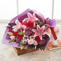 【最速で翌日配送対応】花束「ミル・フルール=お洒落な贈り物=」