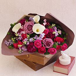 【最速で翌日配送対応】花束「Calla lily=感謝を込めて=」