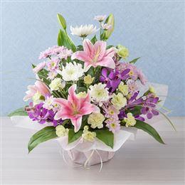 <千趣会イイハナ> 【故人を偲ぶ、お悔みの花】アレンジメント「やすらぎ」