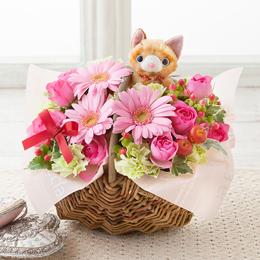 アレンジメント「Favorite Cat〜お花畑でひなたぼっこ〜」