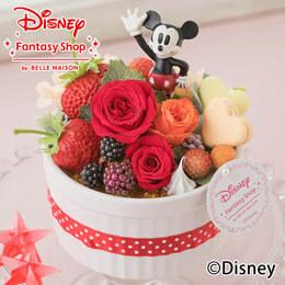 ディズニー プリザーブドフラワー「ハピネスcake〜ミッキー〜」