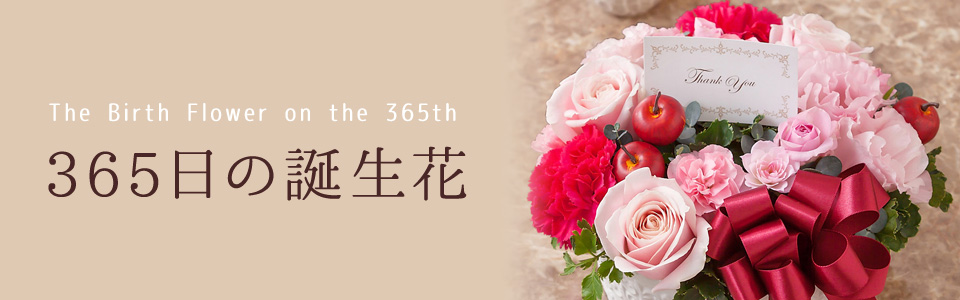 THE BIRTH FLOWER ON THE 365th 365日の誕生花