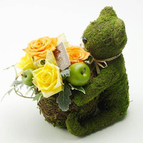 アレンジメント「モスベア〜イエローROSE〜」