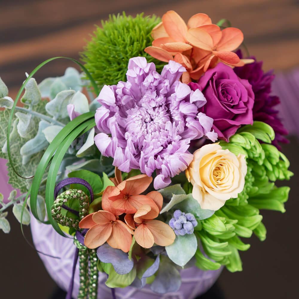 プリザーブドフラワー「菊花てまり」