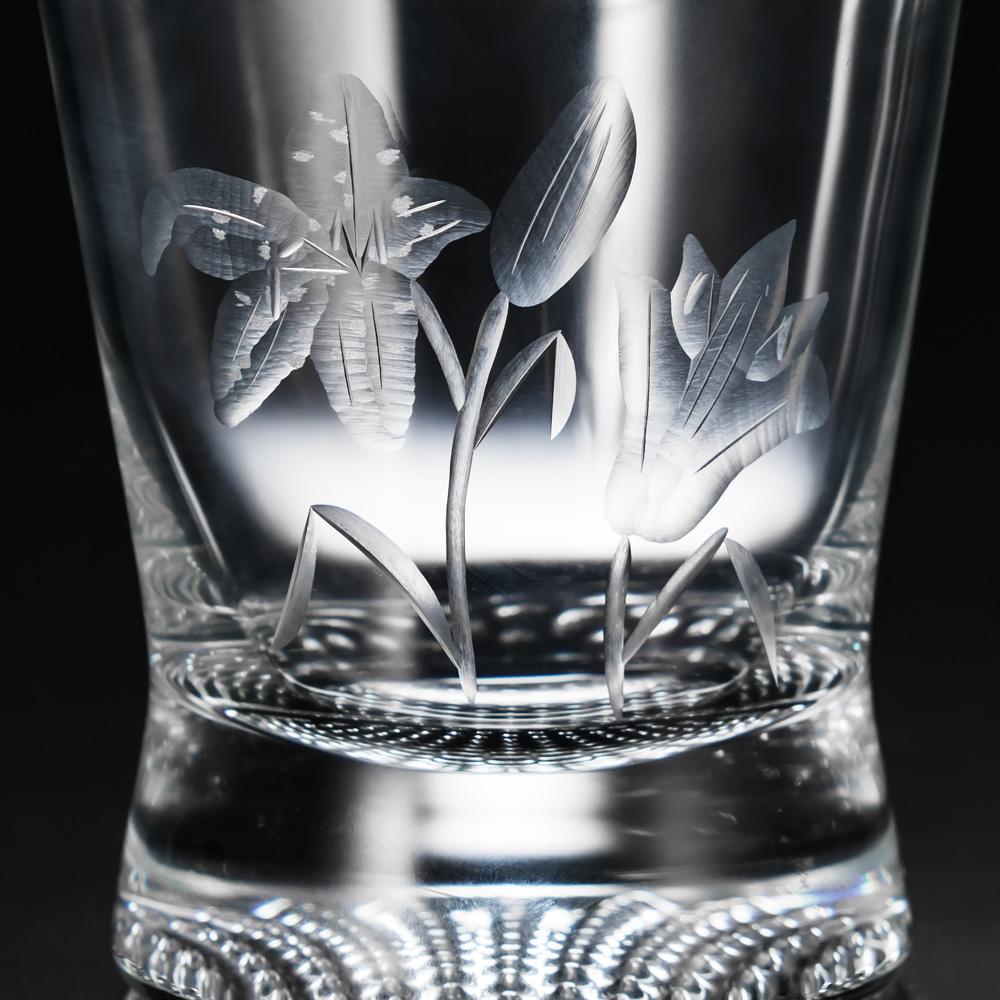 プリザーブドセット「ポーランド製 花切子ロックグラス」