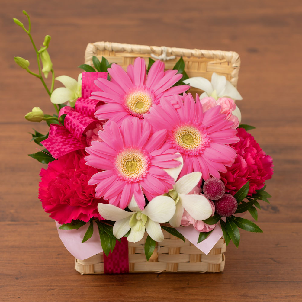 アレンジメント「ぷわぷわバルーン〜Happy Birthday〜pink」