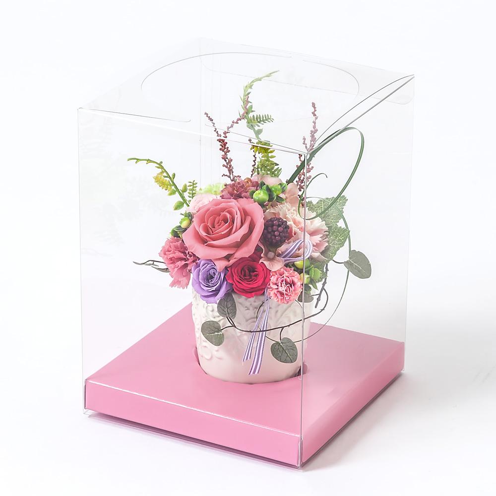 EXプリザーブドフラワー「Thanks Heart〜ラズベリーピンク〜」