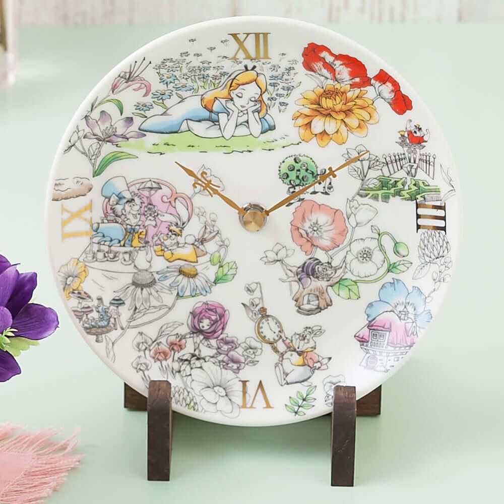 ディズニー プリザーブドセット「ふしぎの国のアリスの陶時計」