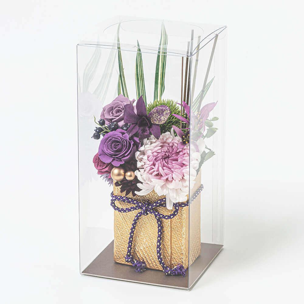 EXプリザーブドフラワー「祝華〜華紫綬〜」