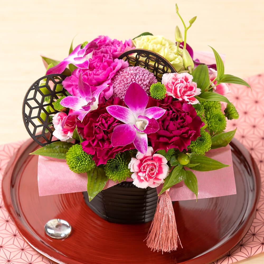 母の日 花 ギフト アレンジメント「華籠=華麗な贈り物=」