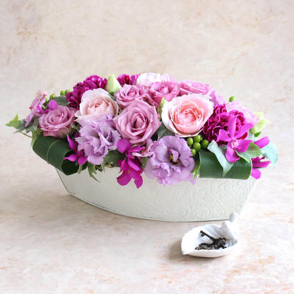 アレンジメント「紫(ゆかり)=優雅な時間=」