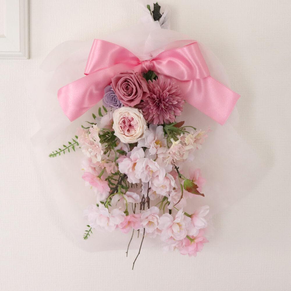 プリザーブドフラワー「お花見日和の壁飾り」
